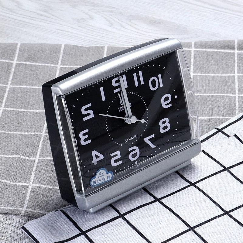 Wake Vintage <font><b>Clocks</b></font> beside Plastic Modern Square <font><b>Alarm</b></font> watch Bedroom Desktop Small table