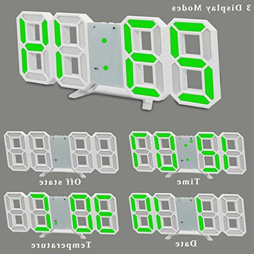 LED Digital Alarm Clock Electronic Office Hour Display, Brightness Dimmable Home Bedroom Living Room