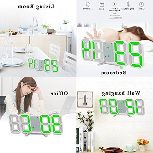 LED Digital Office Wall Hour Display, Auto Dimmable Home Bedside Desktop Bedroom Living