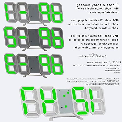 LED Wall Office Wall Mount, 24/12 Hour Bedroom Living Room