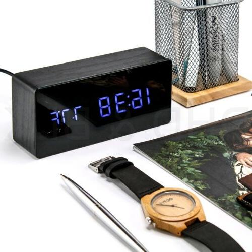 Wooden Clock Screen Display
