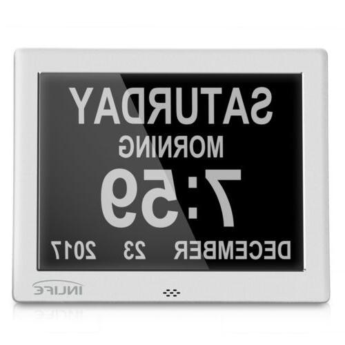 7 Inch HD Digital Display Multipurpose Clock Alarm Calendar
