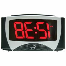 La Crosse Large LED Alarm Clock with Oversized Red LED Digit