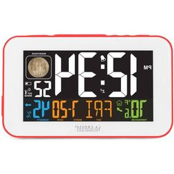 La Crosse Technology 617-1485R LED Color Alarm Clock with US