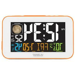 La Crosse Technology 617-1485O LED Color Alarm Clock with US