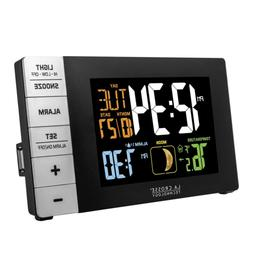 La Crosse Technology Color Alarm Clock with Indoor Temperatu