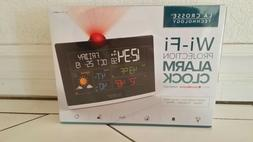 La Crosse Wi-Fi Projection Alarm Clock with AccuWeather Fore
