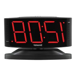 Sharp Digital Alarm Clock with Easy to Read Large Numbers an