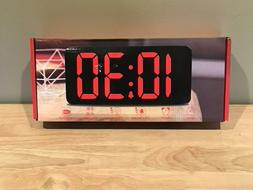 Dreamsky Large Digital Display Alarm Clock with USB Ports fo