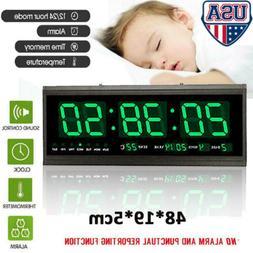 Large Digital LED Jumbo Wall Desk Clock Alarm with Calendar