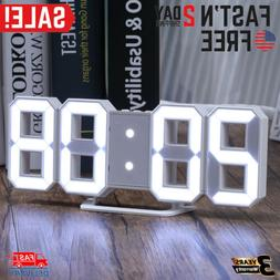 Large LED Digital Alarm Clock Desk Table Wall Snooze Clock 3