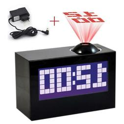 Laser Projecting Alarm Clock Large Display Time Date Tempera