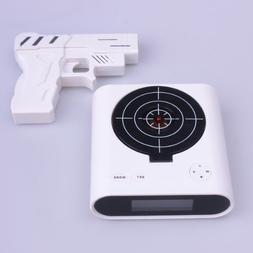 Infrared Wireless Target Gun Alarm Clock with LCD Screen