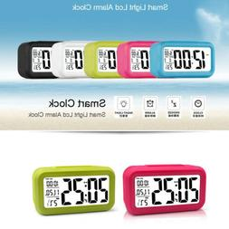LCD Digital Alarm Clock Electronic Calendar Thermometer Desk