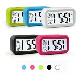 LCD Digital Clock Battery Operated Snooze Electronic Alarm C