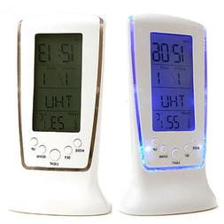 LCD Digital Clock Calendar Snooze Electronic Alarm Clocks Ba