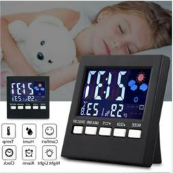 LCD Digital Dispiay Thermometer Alarm Clock Weather Station