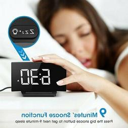 Mpow LCD Digital LED Adjustable Snooze Alarm Clock Dimmer 3.