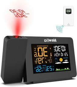 LCD Digital Projection Alarm Clock Bedroom w/ Weather Statio
