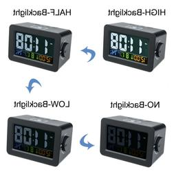 LCD Multifunctional Snooze Alarm Clock Temperature Humidity
