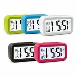 LCD Night Light Electronic Smart Digital Alarm Clock Date Te
