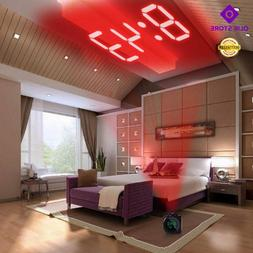 XNCH LCD Projection LED Display Time Digital Alarm Clock Tal