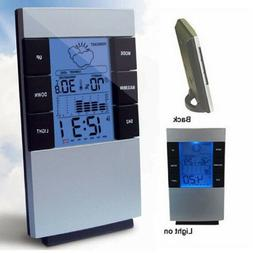 LCD Wireless Weather Station Alarm Clock Indoor & Outdoor Th