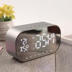 LED Alarm Clock with FM Radio Wireless Bluetooth Speaker  Au