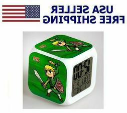 Led Alarm Clock Zelda Sword Creative Digital Table Clock for