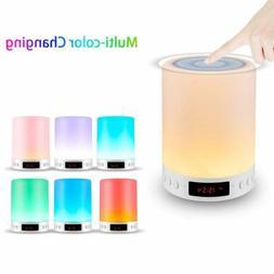 LED Bluetooth Speaker Touch Sensor Control Night Light Desk