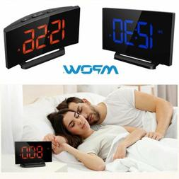 Mpow LED Digital Alarm Clock Curved Screen 3.75'' Large Disp
