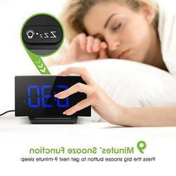 Mpow LED Digital Alarm Clock Curved Screen 3.75'' Large Numb