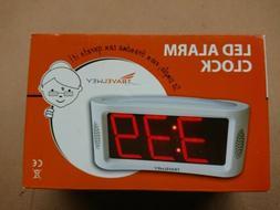 Travelwey LED Digital Alarm Clock - No Frills Simple Operati