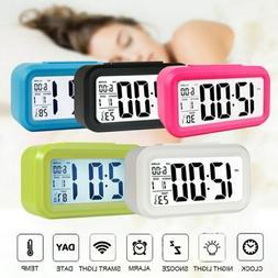 LED Digital Alarm Clock Time Temperature Thermometer Calenda