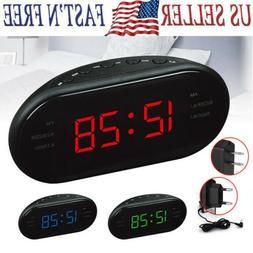 LED Digital AM/FM Radio Alarm Clock Nightlights Snooze Sleep