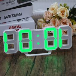 Large LED Digital Alarm Clock Desk Table Wall Snooze Timer 3