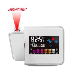led digital projection alarm clock weather station