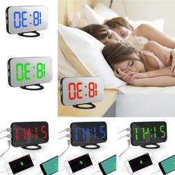 LED Digital Snooze Alarm Clock With USB Port For Phone Charg