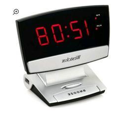 Westclox Led Display Alarm Clock With Usb Charging Port, 5.0