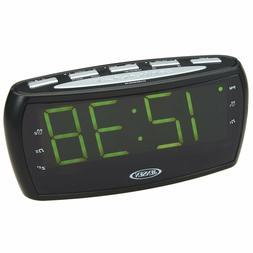 Jensen LED Jumbo Display Alarm Clock Snooze AM/FM Radio AUX-