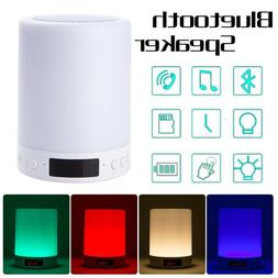 LED Lights Bluetooth Stereo Speaker Alarm Clock USB MP3 Play