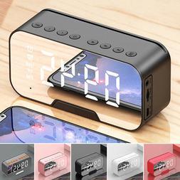 LED Mirror Digital Wireless bluetooth Speakers Alarm Clock M