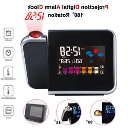 LED Projection Alarm Clock Digital Snooze Weather Thermomete