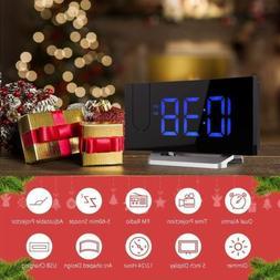 Mpow LED Projection Clock FM Radio Alarm Clock Dual Alarm wi