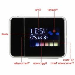 LED Projection Clock Time LCD Display Thermometer Whether Al
