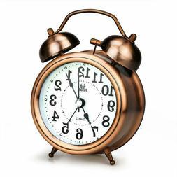 Lingsfire Alarm Clock For Bedroom, Silent Non Ticking Quartz