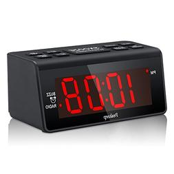 Peakeep Little Digital Alarm Clock FM Radio with 1.2 Inch Di
