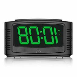 Little Digital Alarm Clock with Snooze 1.2 Inch Clear Led Di