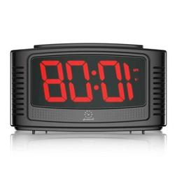 "DreamSky Little Digital Alarm Clock With Snooze , 1.2"" Clear"
