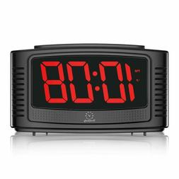 Digital Display Alarm Clock With Snooze Dimmer For Home And